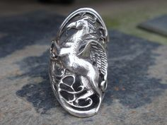 Sterling Pegasus Ring 100% proceeds go to by LuceesTreasureChest