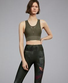 a583552f4 Strappy sports top with back fastening - New this week - New In - OYSHO  SPORT
