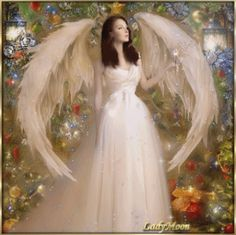 Angel-Angyal by Lady Moon Beach Wallpaper, Gifs, Christmas Photos, Flower Girl Dresses, Fairies, Wedding Dresses, Lady, Stickers, Spaces