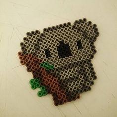 Koala hama beads by Dave McBride Perler Bead Designs, Perler Bead Templates, Hama Beads Design, Diy Perler Beads, Perler Bead Art, Pearler Beads, Hama Beads Kawaii, Hama Beads Pokemon, Melty Bead Patterns