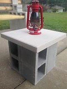 Cement patio diy ideas cinder blocks ideas for 2019 Cinder Block Furniture, Cinder Block Bench, Cinder Block Garden, Cinder Blocks, Cinder Block Ideas, Cinder Block Walls, Patio Diy, Backyard Patio, Backyard Landscaping