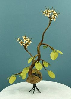 Origami Bonsai Sculpture by all things paper, via Flickr