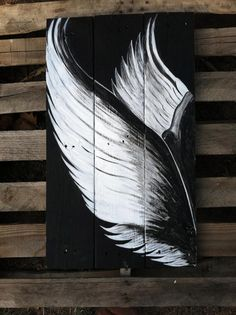 Handpainted angel wings on upcycled pallet boards by TreesonTrees, $55.00