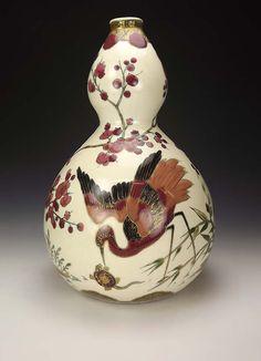 Vintage Zsolnay Eosin Vase