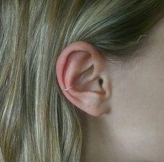 Silver plated unpierced ear cuff