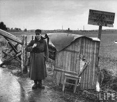 Finnish border guard checkpoint, october/november 1944, pin by Paolo Marzioli