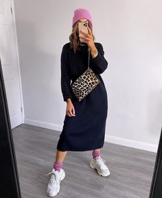 Fall Outfits, Casual Outfits, Fashion Outfits, Work Outfits, Long Jumper Dress, Autumn Winter Fashion, Autumn Style, Latest Fashion For Women, Womens Fashion
