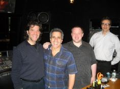 """Great article about the magic of Group ADR! """"Shaping the """"Boardwalk Empire"""" loop group, in the Soundtrack control room: (l-r) Mark DeSimone, Dann Fink, Ric Schnupp, and Fred Rosenberg."""" [via Sonic Scoop]"""