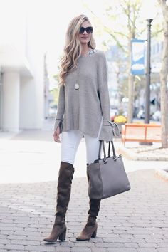 Clothes Fall Trendy - Trendy Fall Sweaters 2017 Spotlight on Statement Sleeve Sweaters Winter Outfits 2017, Winter Sweater Outfits, Casual Winter Outfits, Winter Sweaters, Trendy Outfits, Outfit Winter, Black Sweaters, Chic Outfits, Spring Outfits