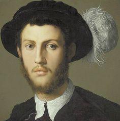 Agnolo Bronzino - Portrait of a Young Man (Detail) 1550-55