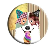 Bengkaew Art Fridge Magnet, Bengkaew Kitchen Decor, Gift Idea, 2. 25 inches diameter and 0.25 inches thick $6.25 USD https://www.etsy.com/ca/listing/155822570/bengkaew-art-fridge-magnet-bengkaew?ref=shop_home_active