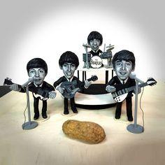 Artwork Using Peanut Shells by Steve Casino #sculpture #beatles