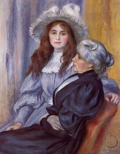 Berthe Morisot And Her Daughter Julie Manet