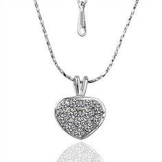 jmj® платина ожерелье с кулоном