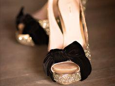 sepia shoes, heels, black velvet, wedding design