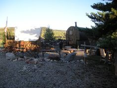A camp of Sheep Wagons in Montana