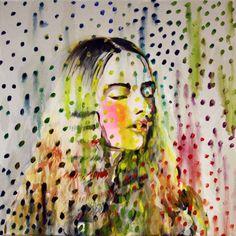"Saatchi Art Artist Hanna Ilczyszyn; Painting, ""Dots"" #art"