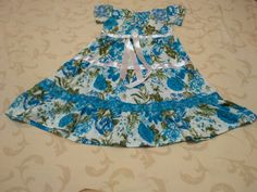 beautiful layered cotton dress for a little girl