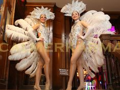 ROARING 20's FEATHERED SHOWGIRLS for staged AND AMBIENT ROUTINES perfect for the indulgent Great Gatsby feel. - perfect for Prohibition themes. http://www.calmerkarma.org.uk/roaring-20s-prohibition-cotton-club.htm  Tel:  020 3602 9540