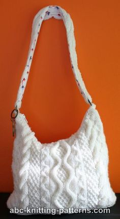 Bag With Cables Free Knitting Pattern - women's purses and wallets, nice purses, female handbags *ad