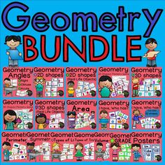 ***These sets are also sold separately! Please check to make sure you haven't purchased them separately already before purchasing this bundle.   ****50% off the FIRST 48 hours! ($63 Value for ONLY $31.50!) Hurry! Geometry MEGA BUNDLE (16 sets of task cards and 1 set of Geometry Posters!)