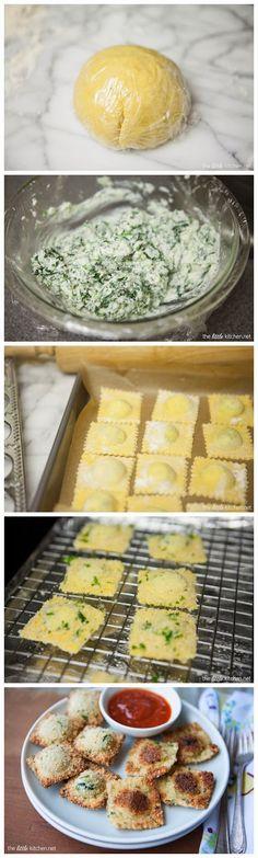 Homemade Spinach & Cheese Ravioli Recipe