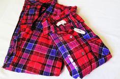 Victoria's Secret The Dreamer Pajama Flannel Red Plaid Pajama Set S NWT #VictoriasSecret #PajamaSets