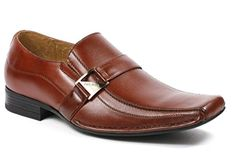 Delli Aldo M-19231 Mens Loafers Dress Classic Shoes w/ Leather Lining, Brown, 7 - Brought to you by Avarsha.com