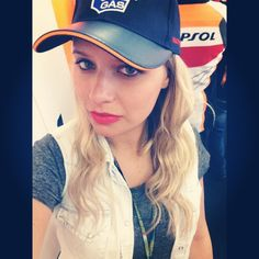 Veronica Ferraro (the Fashion Fruit) at Mugello: MotoGP with GAS Jeans!