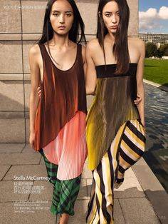 Top Trends From 2016 Spring Summer: Luping Wang and Tiana Tolstoi by KT Auleta for Vogue China February 2016 - Stella McCartney Spring 2016 Fashion Me Now, Foto Fashion, China Fashion, Fashion Models, Classic Fashion Trends, Vogue China, Fashion Week 2015, Editorial Fashion, Stella Mccartney