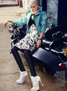 70 Edgy Biker-Inspired Fashion - From Oversized Biker Attire to Rad Rocker Chic Editorials (TOPLIST)