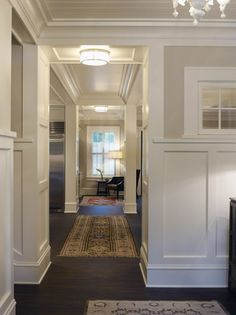Wainscoting + beadboard ceiling... If you click on this picture it will take you to a website with a bunch of different pictures of this home. I need it.