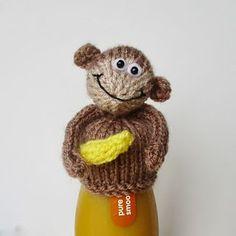 Tea Cosy Knitting Pattern, Easy Knitting Patterns, Knitting Projects, Crochet Patterns, Crochet Monkey, Cute Crochet, Crochet Toys, Monkey Pattern, Monkey Hat