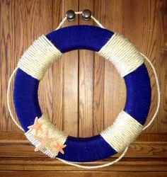 Nautical Wreath made to order. $45.00, via Etsy.