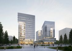 Pangyo 2nd Techno Valley G3 – NORTHPOINT Hospital Architecture, Office Building Architecture, Facade Architecture, Building Design, Architecture Visualization, Architecture Portfolio, Building Concept, High Rise Building, Commercial Architecture