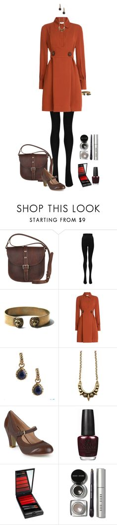 """work clothes (shirtdress)"" by shulabond on Polyvore featuring Most Wanted, Boohoo, Fendi, Barse, Pamela Love, Journee Collection, OPI, Serge Lutens and Bobbi Brown Cosmetics"