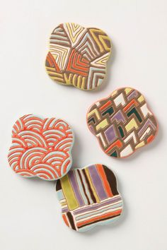 ANTHROPOLOGIE Zippy Coasters $20