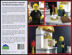Father Leopold Celebrates Mass...Lego play set complete with an assortment of vestments, hosts, etc. @sabralib