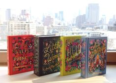 hardcover books, illustrated by Rifle Paper Co.