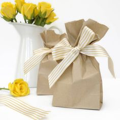 tall paper bags by peach blossom | notonthehighstreet.com