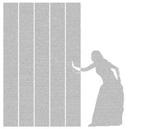 The Through the Looking-Glassposter is created using the entire text of the novel.