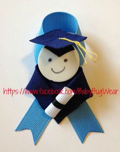 Preschool/ Kindergarten Graduation Pin by: Baby Bug Wear ~ https://www.facebook.com/BabyBugWear