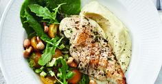 Paahdettu broilerinfilee, kukkakaalisose ja salaatti | Stockmann Herkku