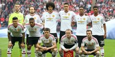 Manchester United line up prior to The Emirates FA Cup Final match between Manchester United and Crystal Palace at Wembley Stadium on May 2016 in London, England. Manchester United Line Up, Official Manchester United Website, Manchester United Players, Man Utd News, Fa Cup Final, Wayne Rooney, Wembley Stadium, Best Club, Crystal Palace