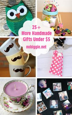 25+ handmade gifts under five dollars Nobiggie.net