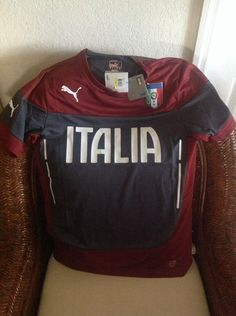 Puma Italia Training Soccer/futbol Jersey/shirt New With Tags Size SMALL Men's in Sports Mem, Cards & Fan Shop, Fan Apparel & Souvenirs, Soccer-National Teams | eBay