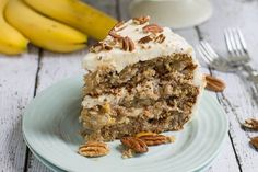 Banana Sour Cream Walnut Bread, an Old Fashioned Vintage Recipe / Great for Holiday Brunch, Gift Baskets & Perfect for Shipping to Friends - Banana Cake Mini Cakes, Cupcake Cakes, Cupcakes, Southern Caramel Cake, Hummingbird Cake Recipes, Hummingbird Bakery, Salty Cake, Savoury Cake, Clean Eating Snacks