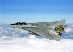 F-14A Tomcat over Iraq during Southern Watch - F-14 (luchador) - Wikipedia F-14A, que se barrió ala en los 68 °