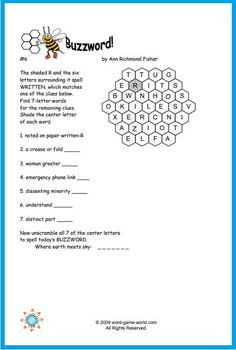 Printable Word Games, Free Printable Crossword Puzzles, Free Word Games, Printables, Grade Spelling, Spelling Words, New Words, Cool Words, Difficult Word Search