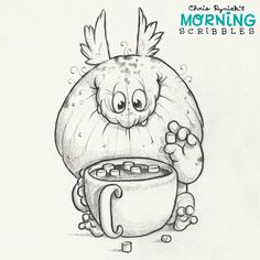 Artist Chris Ryniak - cute art. Morning Scribbles. Cute art by Chris Ryniak Follow Chris Ryniak on facebook and Instagram. ;) http://chrisryniak.com/ https://www.facebook.com/pages/Chris-Ryniak/68169468627